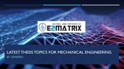 Latest thesis topics for mechanical engineering