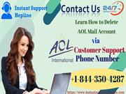 Delete AOL Mail Account via AOL Customer Support Number | Guide