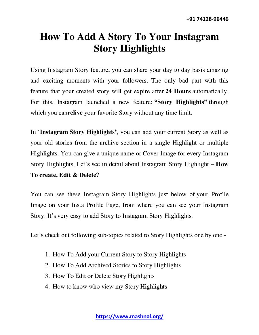 How to Add a Story to Your Instagram Story Highlights |authorSTREAM