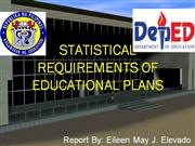 Statistical Requirements of educational Plans
