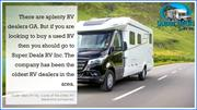 There are aplenty RV dealers GA 14 AUG