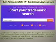 The Fundamentals Of Trademark Registration