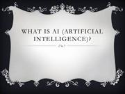 What is AI (Artificial Intelligence) ?