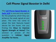 Cell Phone Signal Booster in Delhi