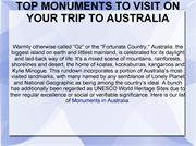 TOP MONUMENTS TO VISIT ON YOUR TRIP TO AUSTRALIA
