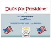 Duck for President - Webquest