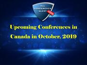 Upcoming Conferences in Canada in October, 2019