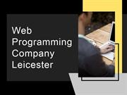 Web Programming Company Leicester