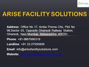 Housekeeping Facility Management Services in Mumbai