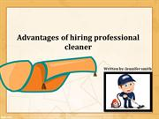 Benefits for Hiring Professional Carpet Cleaners