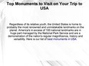Top Monuments to Visit on Your Trip to USA