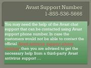 18555365666 Avast Support Number