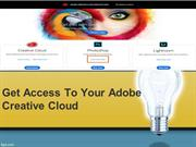 Get access to your Adobe Creative Cloud