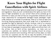 Know Your Rights for Flight Cancellation with Spirit Airlines