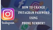 How to Reset Instagram Password With Phone Number?