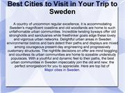 Best Cities to Visit in Your Trip to Sweden