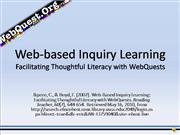 Web-based Inquiry Learning with WebQuest
