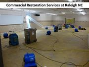 Commercial Restoration Services at Raleigh NC