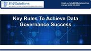 Key Rules To Achieve Data Governance Success