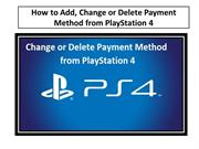 How to Add, Change or Delete Payment Method from PlayStation 4