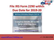 Complete information about 2290 Due Date