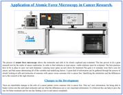 Application of Atomic Force Microscopy in Cancer Research