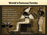 world famous tombs