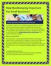 How Bookkeeping Important For Small Business