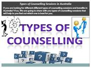 Types of Counselling Sessions in Australia
