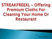 STREAKFREEXL – Offering Premium Cloths For Cleaning Your Home Or Resta