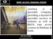 Rope Access Training Perth