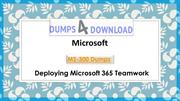 Microsoft MS-300 Dumps PDF- Dumps4Download
