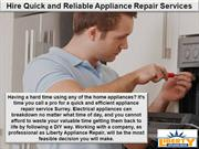 Hire Quick and Reliable Appliance Repair Services