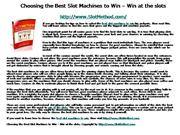 1 Choosing the Best Slot Machines to Win