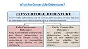 What Are Convertible Debentures
