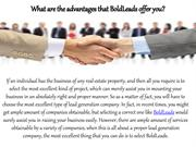What are the advantages that BoldLeads offer you?