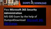 Get MS-500 Exam Dumps - Microsoft MS-500 PDF