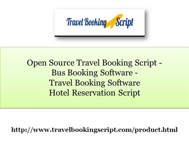 Travel Booking Software, Hotel Reservation Script, Open