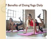 Benefits of Doing Yoga Daily