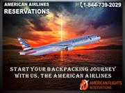 Start your backpacking journey with us, the American Airlines