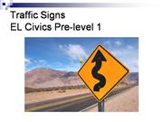 EL Civics Traffic Sign Handout with soun