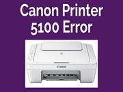 Canon Printer Error 5100