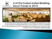 4 of the Coolest Indian Wedding Decor Trends in 2019