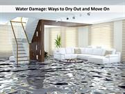 Water Damage - Ways to Dry Out and Move On