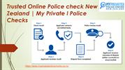 How To Get Police Checks In NZ at My Private I Police Checks