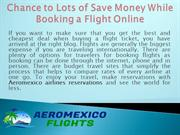 Chance to Lots of Save Money While Booking a Flight Online