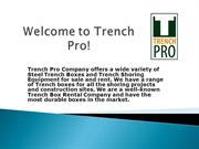 Get the rentlals services for trench safety product Georgia