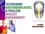 STANDARDS AND NURSING AUDIT PPT
