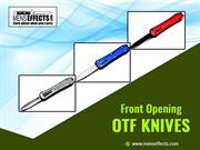 Front opening OTF knives