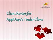 Appdupe Reviews - Client Reviews for Appdupe's Tinder Clone